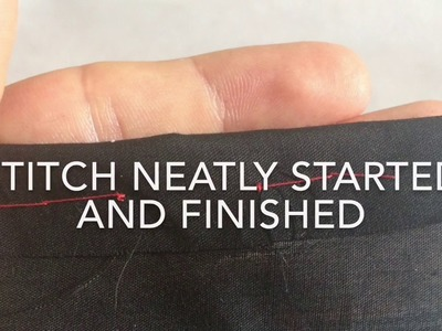How to Hand Sew #1: Starting and Finishing a Stitch