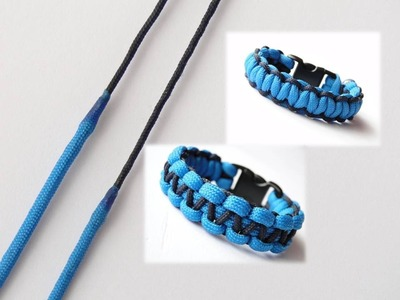 How to join two different sizes of paracord-Make a Paracord 550.Type1 Cobra Paracord Bracelet