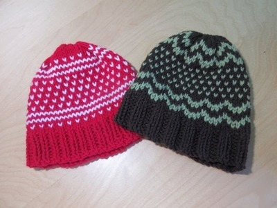 How to knit fair isle hat for baby's