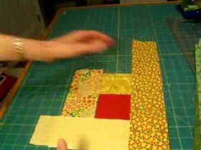 How to lay out a log cabin quilt square