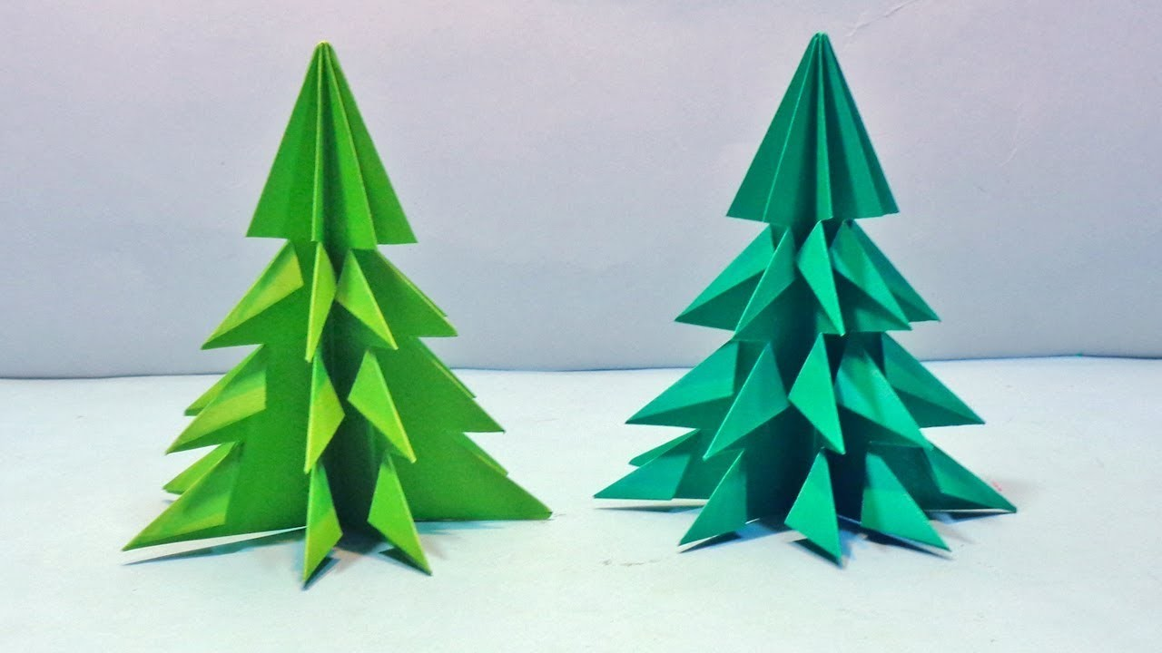 How To Make 3D Paper Christmas Tree