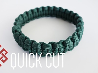 How to Make a Continuous Loop Cobra Paracord Bracelet Tutorial Quick Cut
