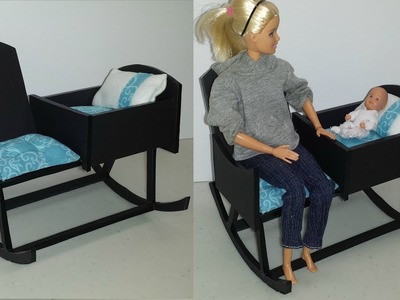 How to make a Doll Rocking Chair with a Crib