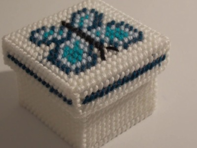 How to make a plastic canvas butterfly box