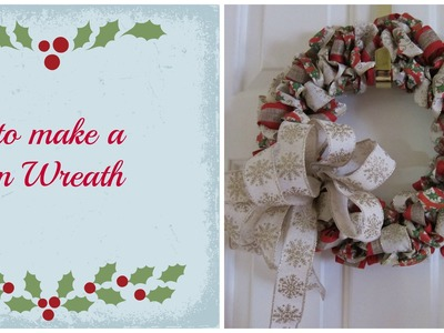 How to make a Ribbon Wreath with Michelle