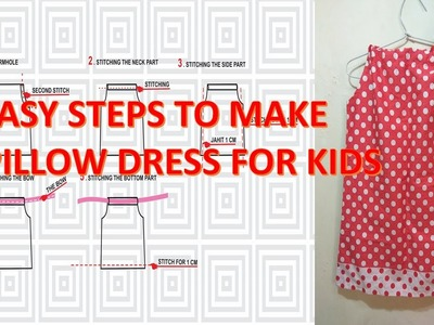 How to make a simple pillow dress for a little girl