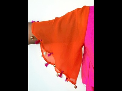 How To Make Bell Sleeves.Drafting And Stiching ! DIY!