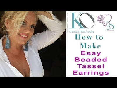 How to Make Easy Beaded Tassel Earrings Sexy Cool and Quick Easy Beginner Gift Idea