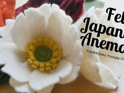 How to make Felt Japanese Anemone