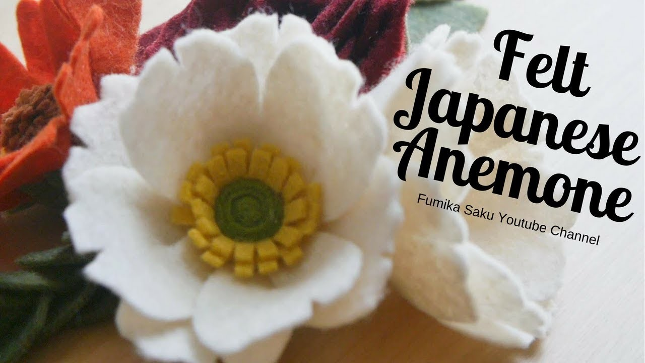 How to make Felt Japanese Anemone