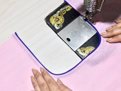 How to make Perfect Piping on Neck easy way || गले पर आसान तरीक़े से पाइपिंग कैसे लगाते है ?