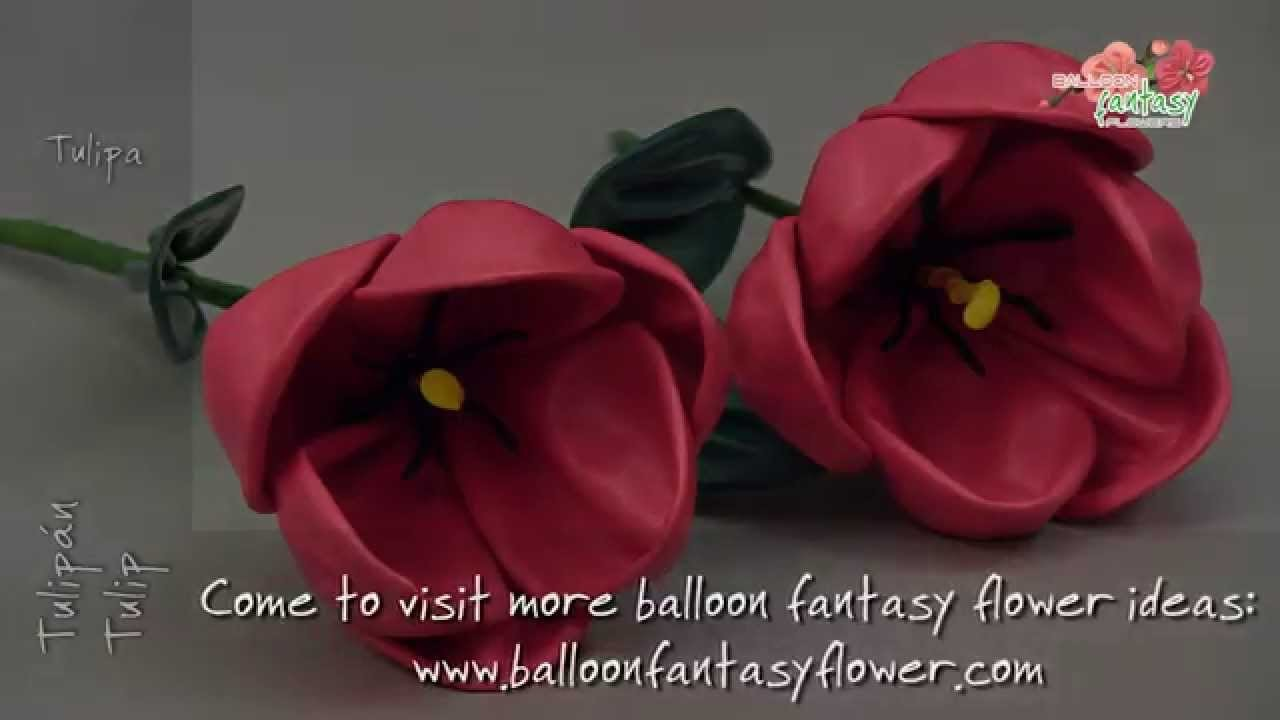 How to make Tulip balloon fantasy flower