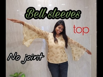How to sew Bell sleeves top | No joint for bell | Trending design | tailoring tutorial | DIY project