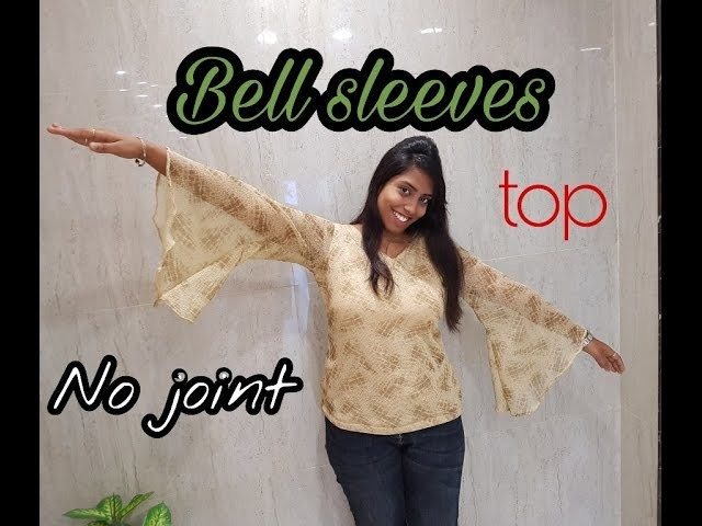 How to sew Bell sleeves top   No joint for bell   Trending design   tailoring tutorial   DIY project