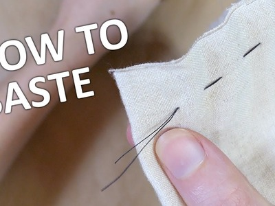 How to use a basting stitch  |  Impatient Tutorials