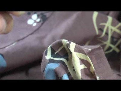 I am explaining how I sew a kimono. 和裁、三つ折ぐけ、糸の繋ぎ方
