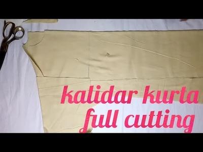 Kalidar kurta cutting for men