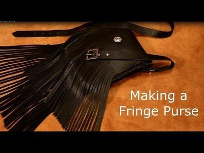 Making a Leather Fringe Purse