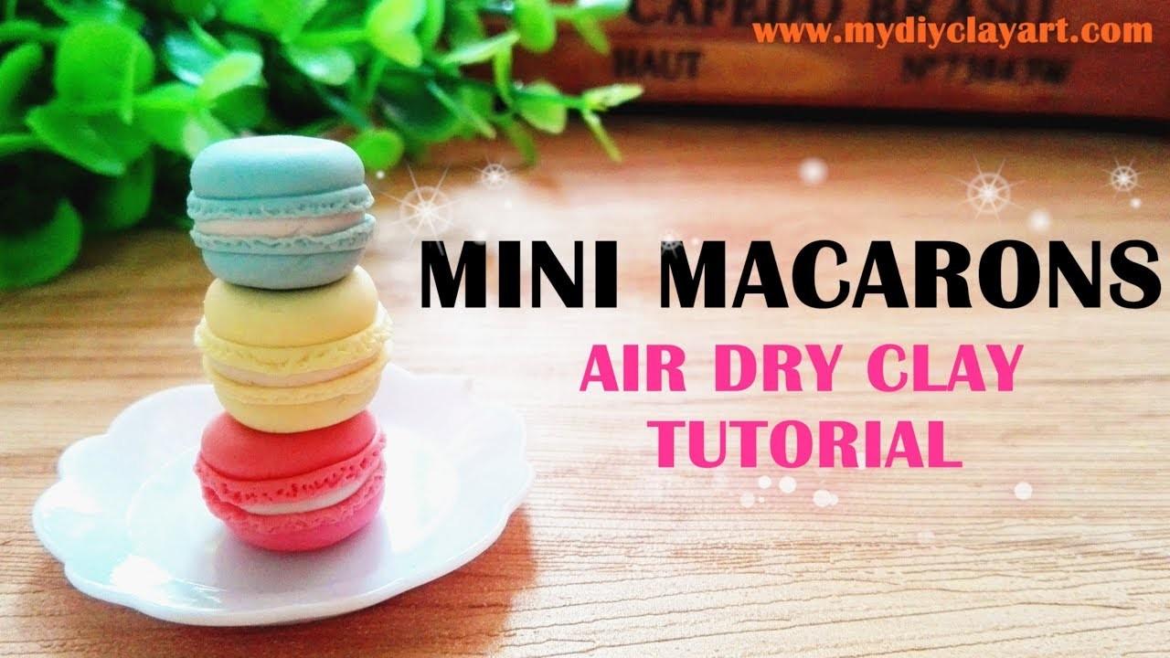 Mini Macarons - Easy Air Dry Clay Tutorial