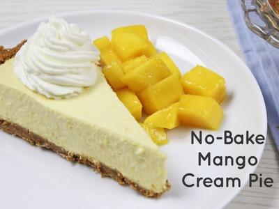No-Bake Mango Cream Pie Recipe | Yummy Ph