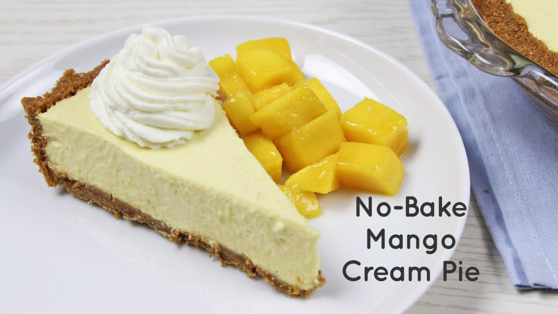 No-Bake Mango Cream Pie Recipe | Yummy Ph
