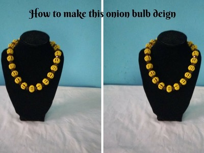 Onion bulb beaded necklace or bracelet tutorial