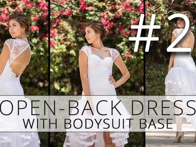 Open-back dress with a bodysuit base. How to make a wedding dress. p22