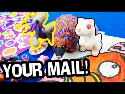 OPENING YOUR MAIL! Fanmail Polymer Clay Charms, Drawings, Dream Catcher