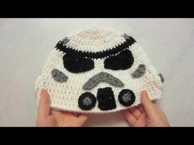 Part 2: Stormtrooper Crochet Hat Tutorial inspired by Star Wars
