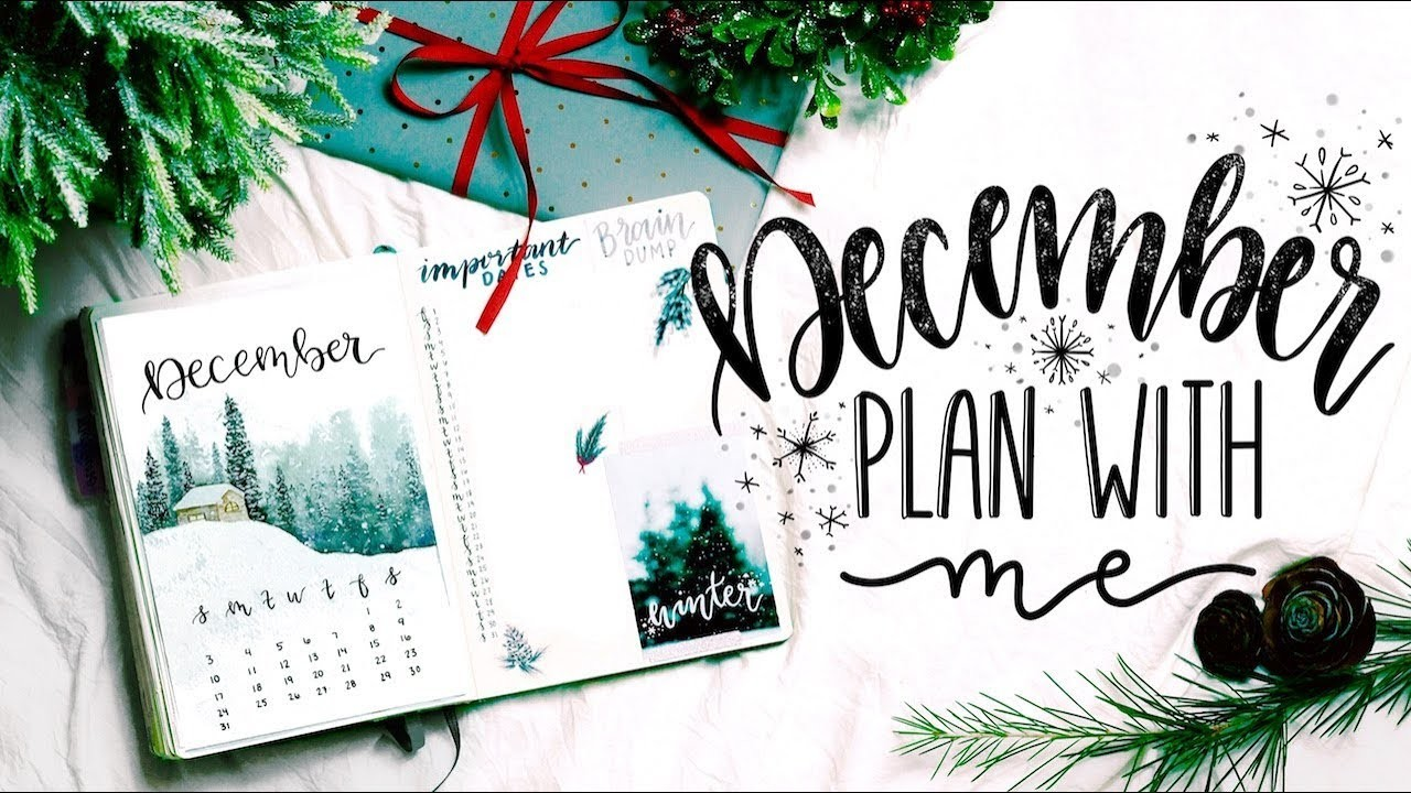 Plan with me december 2017 bullet journal november flip for Plan me