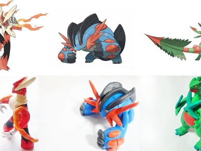 Pokemon Clay Requests #2: Mega Blaziken, Mega Swampert , Mega Sceptile