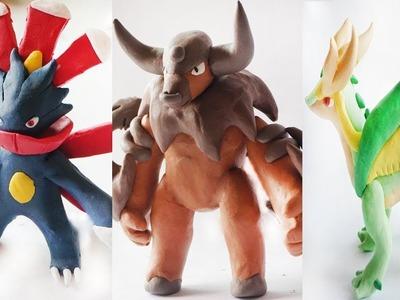 Pokemon Clay Requests #6: Mega Sneasel, Mega Tauros, Mega Servine