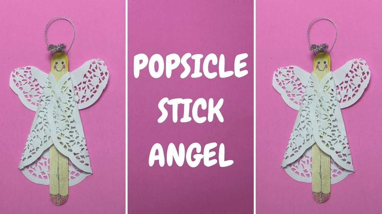 Popsicle Stick Angel | Christmas Craft Ideas | Popsicle Stick Craft