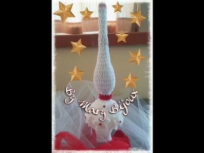 Puntale albero di Natale.Christmas tree crochet Tip with English surtitles
