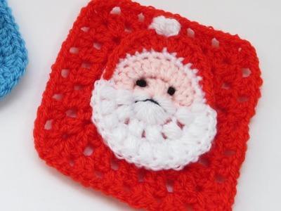 Santa Granny Square - How to Crochet