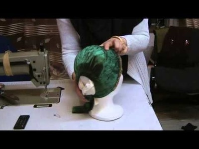 Sewing hijab cap