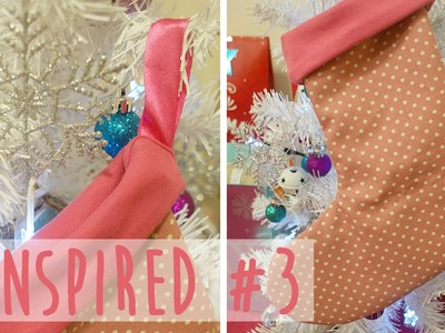 Simple Lined Stocking - Christmas Pinspired #3