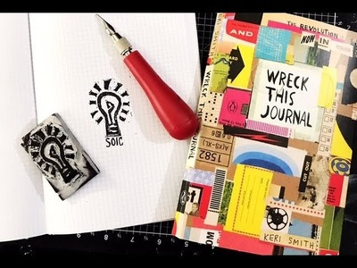Stamp Carving and Wreck This Journal Color and SOIC Ep12