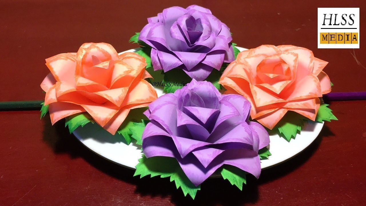 How To Make A Simple Paper Rose Flower Flowers Healthy