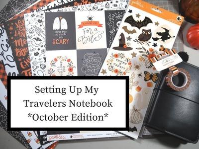 Travelers Notebook Set Up Oct 2017