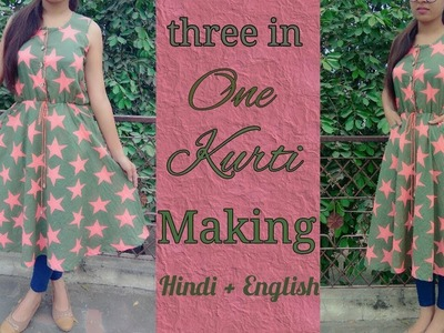 Trending cotton kurti making with side pockets