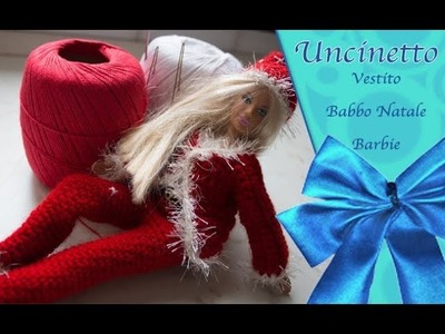 Uncinetto Barbie: pantalone e cappello di Natale parte 1°-How to do pants and christmas hat