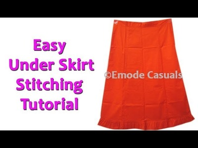 Under skirt Stitching easy method regular and over size stitching for beginners