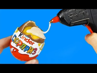12 AMAZING LIFE HACKS WITH KINDER EGGS
