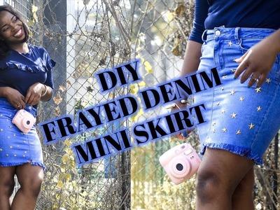 2 Minute DIY Denim Mini Skirt!!!