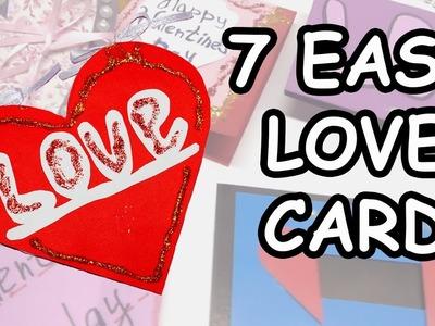 7 DIY LOVE greeting card making. DIY paper craft ideas. Ideas for valentine's day. Julia DIY