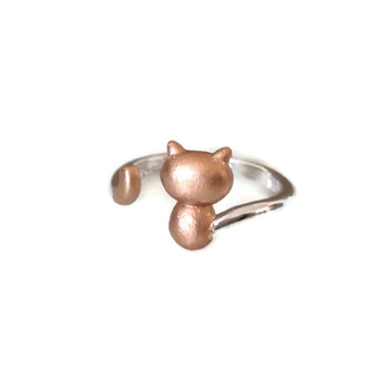 925 silver cat ring, cute cat silver ring, adjustable cat ring, copper cat ring, 925 sterling silver jewelry, cat jewelry, cat ring, cat