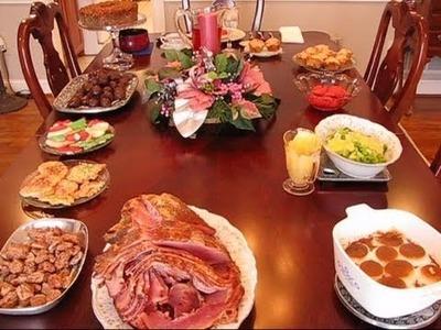 Betty's Christmas Dinner Table, 2010