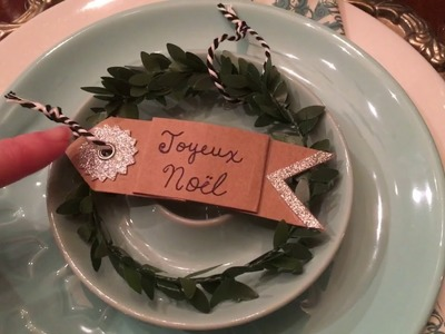 Christmas DIY for my dining room table setting.