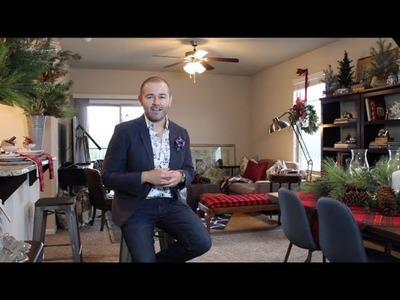Christmas Home Tour  2017. Christmas Patio Ideas. Christmas Plaid and Traditional